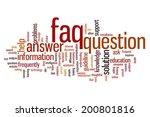 faq concept word cloud...   Shutterstock . vector #200801816