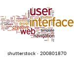 user interface concept word...
