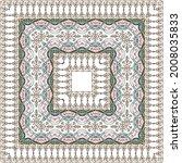 bandana pattern with ethnic... | Shutterstock .eps vector #2008035833
