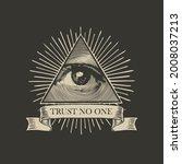 vector icon of the masonic... | Shutterstock .eps vector #2008037213