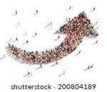 people with direction. large... | Shutterstock . vector #200804189