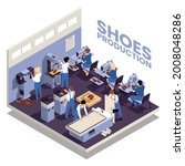 shoes production design with...   Shutterstock .eps vector #2008048286