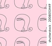 seamless pattern with repeating ... | Shutterstock .eps vector #2008053449
