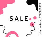 text sale on modern abstract... | Shutterstock .eps vector #2008053479