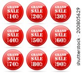grand sale up to 10 20 30 40 50 ... | Shutterstock .eps vector #200805629