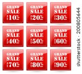 grand sale up to 10 20 30 40 50 ... | Shutterstock .eps vector #200805644