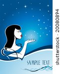 the cold beauty and the stars 3 | Shutterstock .eps vector #20080894