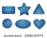 set of blue denim patches with...   Shutterstock .eps vector #2008120973
