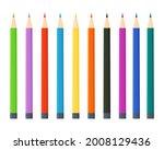 vector set of colored pencils... | Shutterstock .eps vector #2008129436