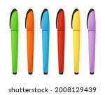 colorful set of markers in... | Shutterstock .eps vector #2008129439