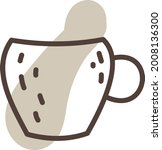 unusual coffee cup ... | Shutterstock .eps vector #2008136300