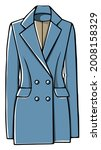 formal apparel or outfit for... | Shutterstock .eps vector #2008158329