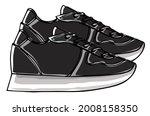 trendy footwear for women or...   Shutterstock .eps vector #2008158350