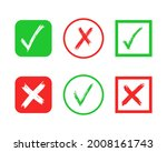 set of six hand drawn check and ...   Shutterstock .eps vector #2008161743