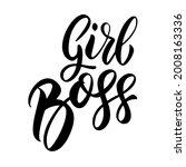 girl boss. lettering phrase on...   Shutterstock .eps vector #2008163336