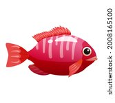 tropical red fish  coral reef... | Shutterstock .eps vector #2008165100