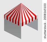 isometric market stall  tent.... | Shutterstock .eps vector #2008165103