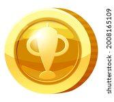 gold medal coin goblet symbol....