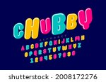 chubby  playful style font...   Shutterstock .eps vector #2008172276