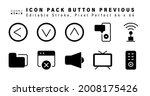 icon set of button previous...