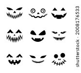 scary and funny faces for... | Shutterstock .eps vector #2008176533
