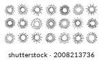 sun rays images on black...   Shutterstock .eps vector #2008213736