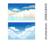 sky scene with clouds drifting...   Shutterstock .eps vector #2008218443