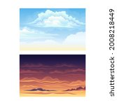 sky scene with clouds drifting...   Shutterstock .eps vector #2008218449