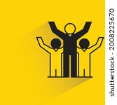 success people on yellow...   Shutterstock .eps vector #2008225670