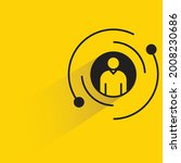 people profile icon on yellow...   Shutterstock .eps vector #2008230686