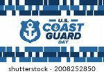 u.s. coast guard day in united...   Shutterstock .eps vector #2008252850