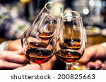 group of friends a toast to the ... | Shutterstock . vector #200825663