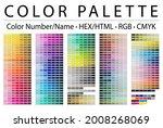 color palette. print test page. ...   Shutterstock .eps vector #2008268069