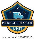 medical rescue unit bagde vector   Shutterstock .eps vector #2008271393