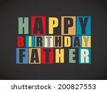 retro happy birthday card. ...   Shutterstock .eps vector #200827553