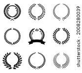 laurel wreath set. heraldic... | Shutterstock .eps vector #2008280039