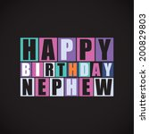 retro happy birthday card ...   Shutterstock .eps vector #200829803
