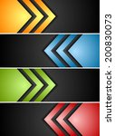 abstract vector banners with... | Shutterstock .eps vector #200830073