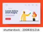 person in protective costume...   Shutterstock .eps vector #2008301216