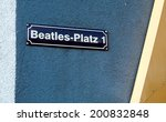 Постер, плакат: Beatles square title on