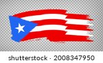 flag of puerto rico from brush...