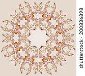 flower round pattern  of brown... | Shutterstock .eps vector #200836898