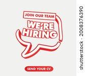 we're hiring. an ad for an... | Shutterstock .eps vector #2008376390
