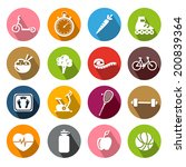 collection of icons... | Shutterstock .eps vector #200839364