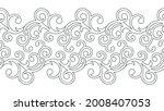 seamless swirly black and white ... | Shutterstock .eps vector #2008407053