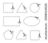 vector set of cutting scissors. ...   Shutterstock .eps vector #2008410020