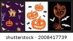 halloween symbols hand drawn...   Shutterstock .eps vector #2008417739