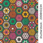colorful pattern with funny... | Shutterstock .eps vector #200843234