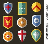 flat icons with different... | Shutterstock . vector #200843330