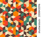 retro geometric pattern with... | Shutterstock .eps vector #200843396